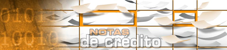 Notas de crédito